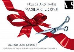 Naujas AKS filialas Pašilaičiuose nuo 01.01!