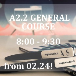 A2.2 GENERAL ENGLISH COURSE IN JERUZALĖ FROM 02.24