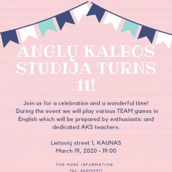 AKS 11th BIRTHDAY IN KAUNAS 03.19!