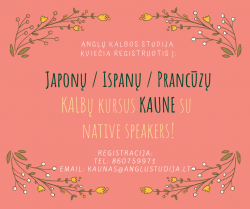 JAPANESE, SPANISH AND FRENCH COURSES IN KAUNAS!