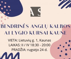 A1 GENERAL ENGLISH COURSE IN KAUNAS FROM 09.24
