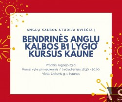 B1 GENERAL ENGLISH COURSE FROM 09.23 IN KAUNAS